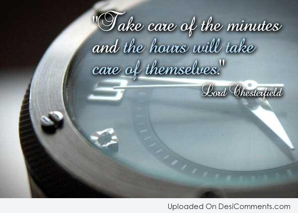 Picture: Take Care Of The Minutes