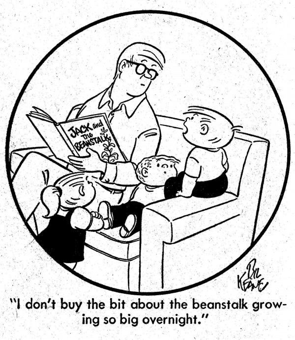 I Don't Buy The Bit About The Beanstalk