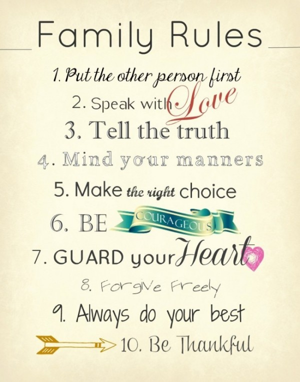 Picture: Family Rules