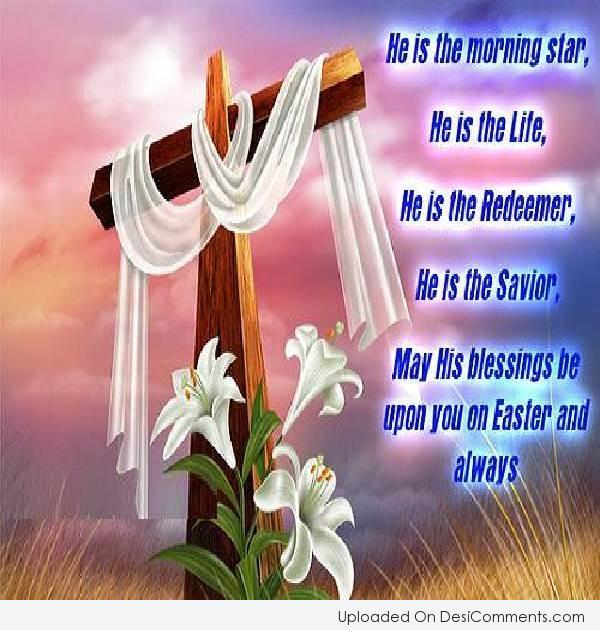 Picture: May His Blessings Be Upon You On Easter And Always