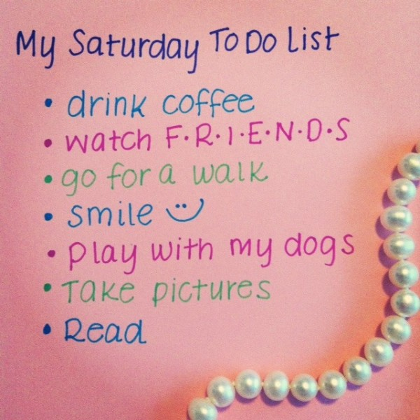 Picture: My Saturday To Do List