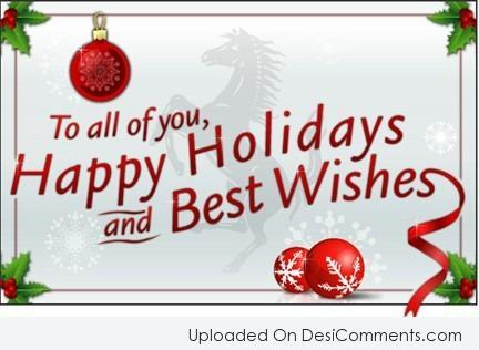 Happy Holidays and Best Wishes