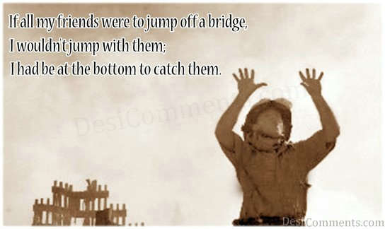 I Wouldn't Jump With My Friends