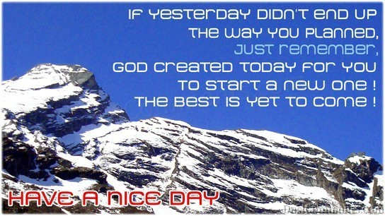 God Created Today For You