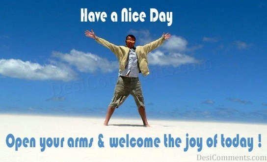 Welcome The Joy Of Today