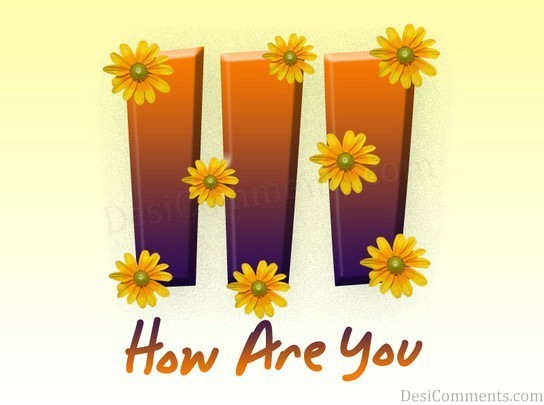 Hi With Flower Graphic