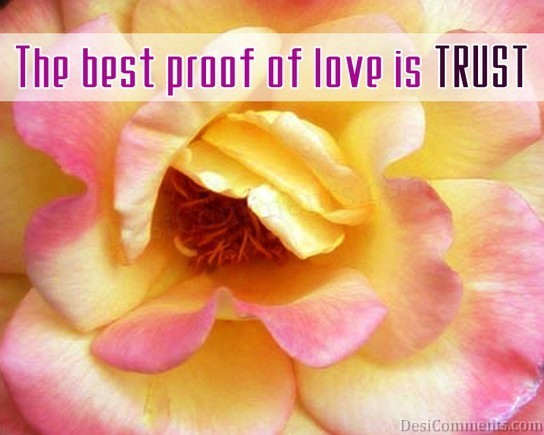 Picture: Proof Of Love Is Trust