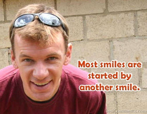 Smiles Are Started By Another Smile