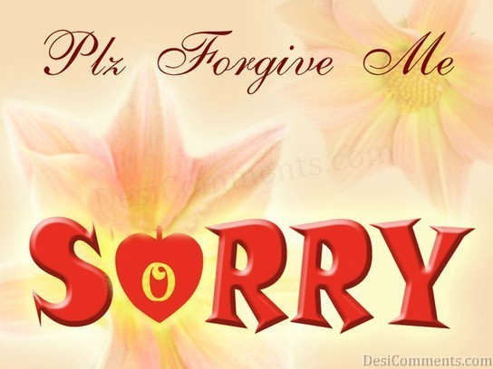 Sorry With Flowers Graphic