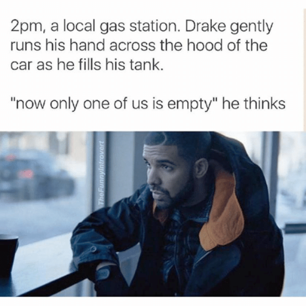 Drake Gently Runs His Hand