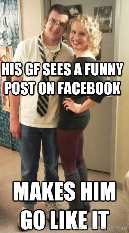 His GF Sees A Funny Post On Facebook