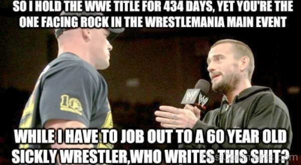So I Hold The WWE Title