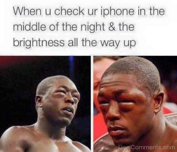 When You Check You Iphone