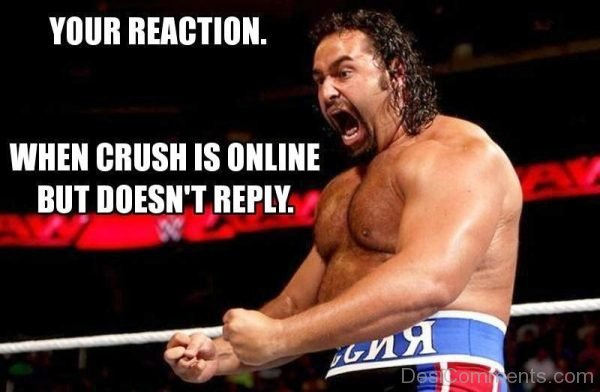 Your Reaction When Crush Is Online
