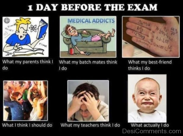 1 Day Before The Exam