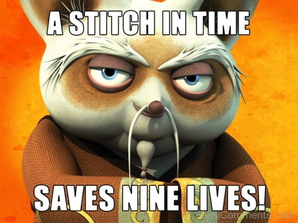A Stitch In Time Saves Nine Lives