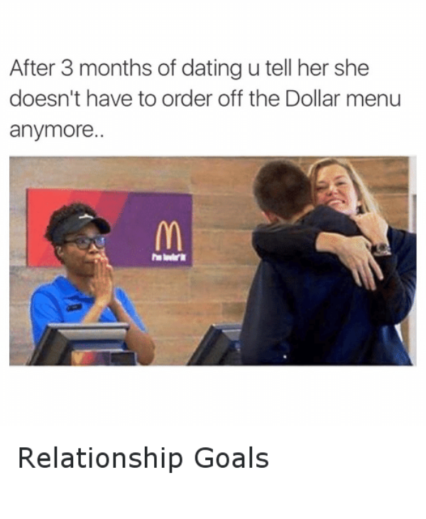 After 3 Months Of Dating You Tell Her