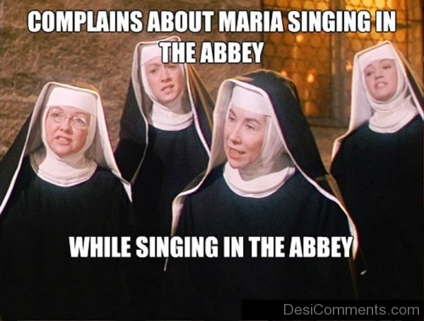 Complains About Maria Singing