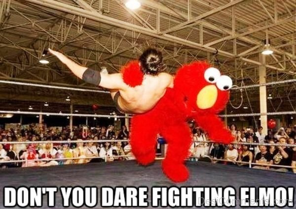 Dont You Dare Fighting Elmo