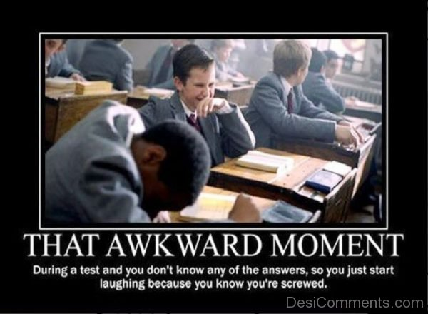 During A Test And You Dont Know