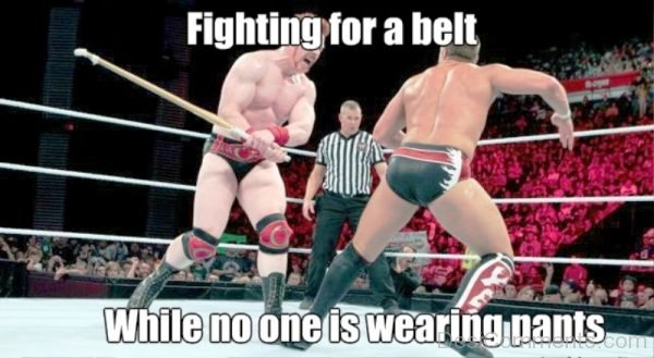 Fighting For A Belt