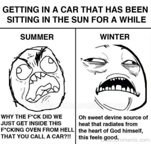 Getting In A Car That Has Been Sitting