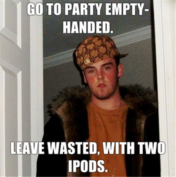 Go To Party Empty Handed