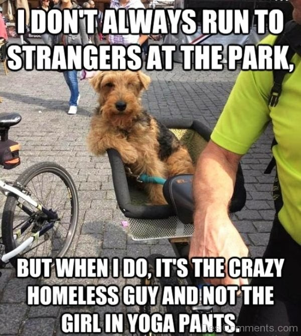 I Dont Always Run To Strangers