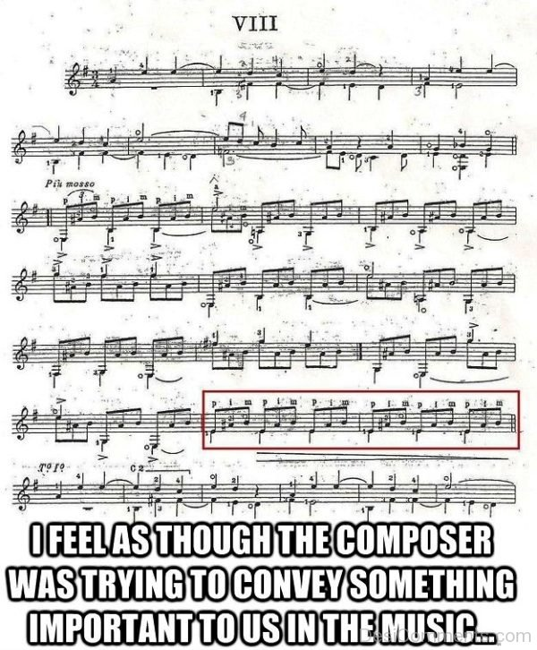I Feel As Thought The Composer Was Trying