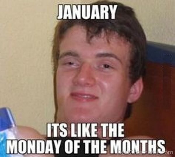 January Its Like The Monday Of The Months