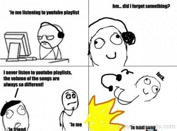 Le Me Listening To Youtube Playist