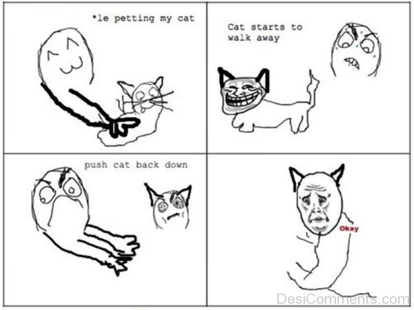 Le Petting My Cat