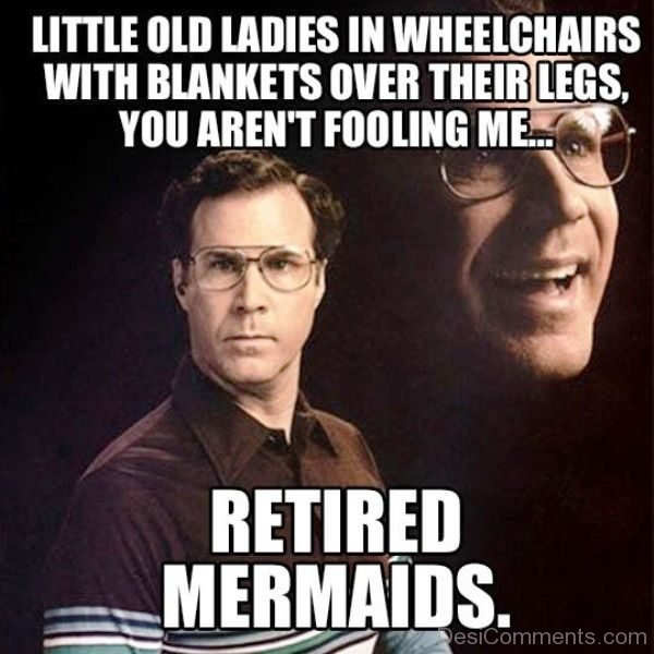 Little Old Ladies In Wheelchairs