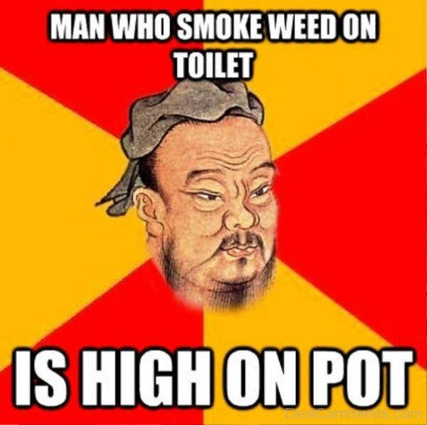 Man Who Smoke Weed On Toilet
