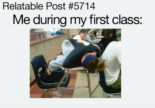 Me During My First Class