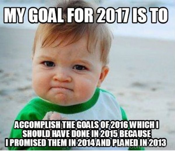 My Goal For 2017 Is To