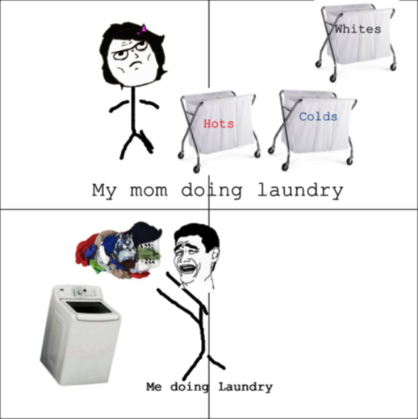 My Mom Doing Laundry