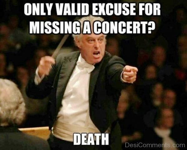 Only Valid Excuse For Missing A Concert