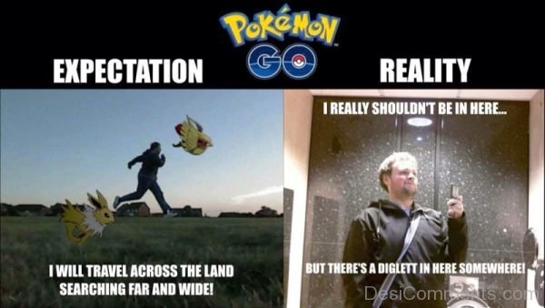 Pokemon Go Expectation Vs Reality