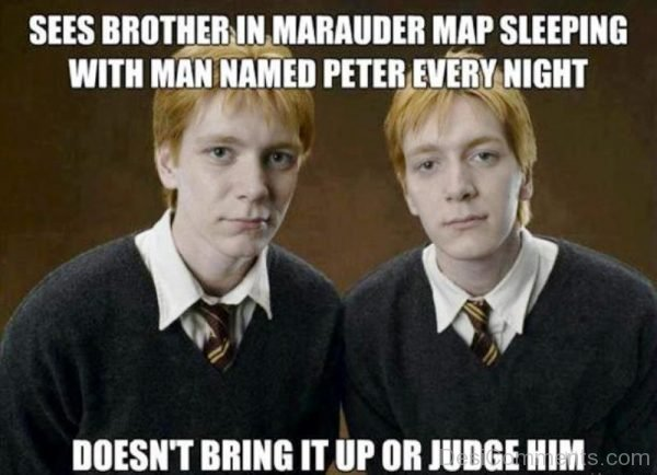 Sees Brother In Marauder Map