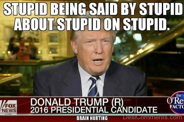 Stupid Being Said By Stupid