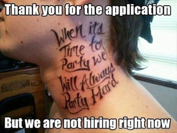 Thank You For The Application