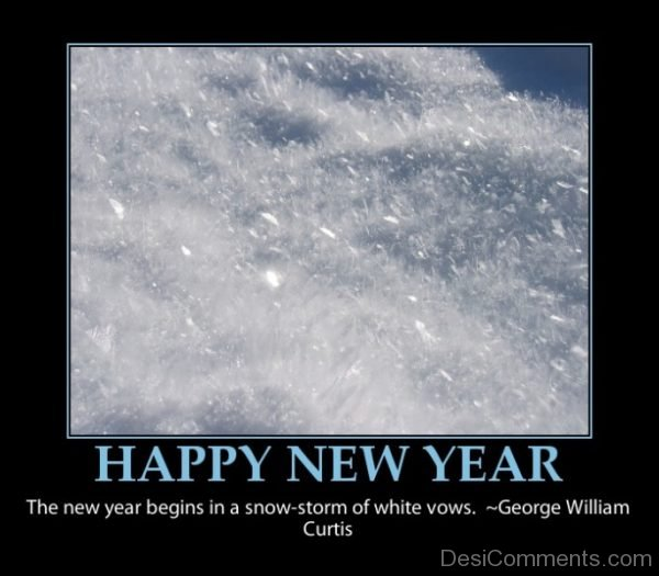 The New Year Begins In A Snow Storm