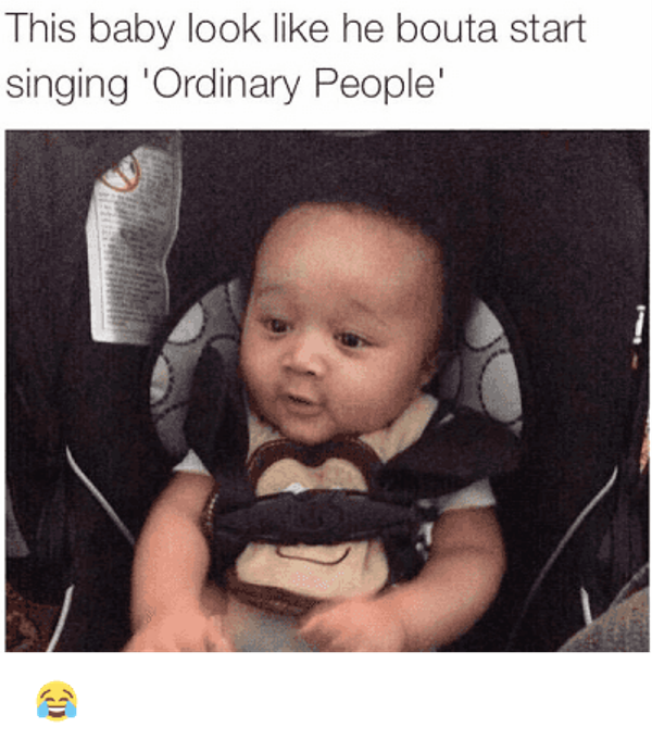 This Baby Look Like He Bouta Start Singing