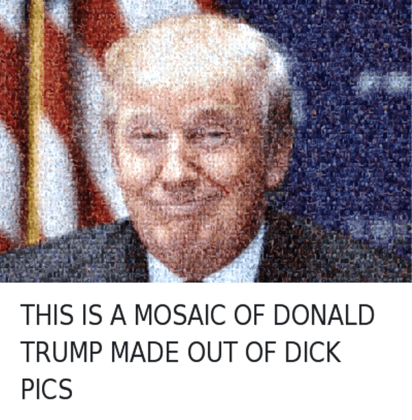 This Is A Mosaic Of Donald Trump