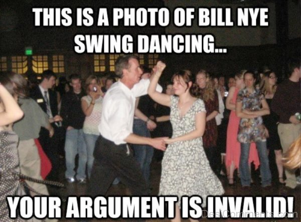 This Is A Photo Of Bill Nye Swing Dancing