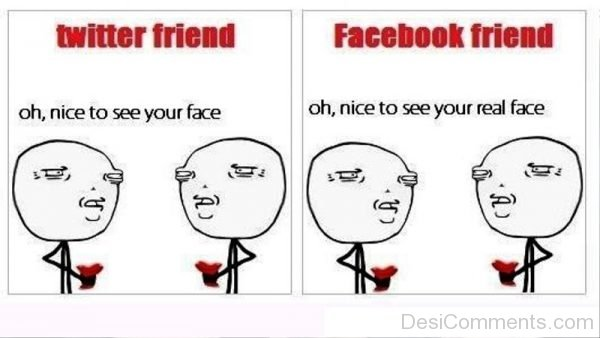 Twitter Friend Vs Facebook Friend
