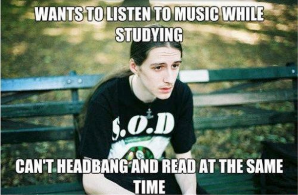 Wants To Listen To Music While Studying