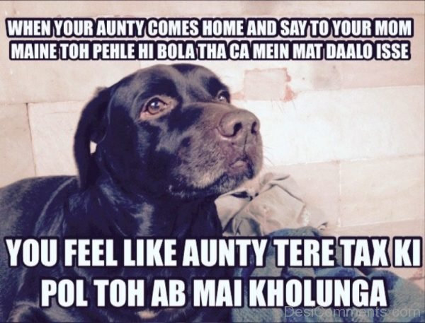 When Your Aunty Comes Home