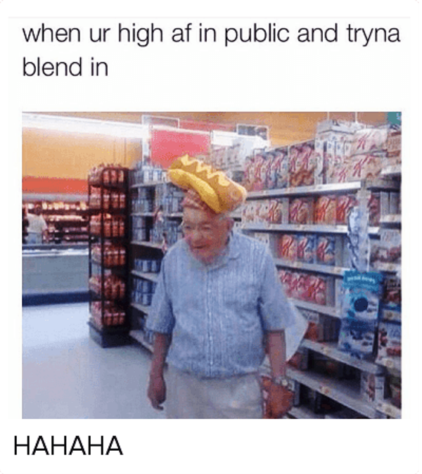 When Your High AF In Public